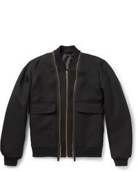 Cazadora de aviador de lana negra de Alexander McQueen