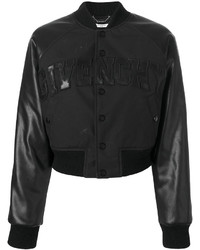 Cazadora de Aviador de Lana Negra de Givenchy