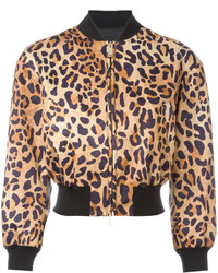 Cazadora de Aviador de Leopardo Marrón de Dsquared2