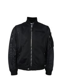 Cazadora de aviador de malla negra de Givenchy