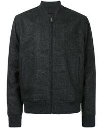Cazadora de aviador de tweed en gris oscuro de Kent & Curwen