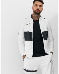 Cazadora de aviador en blanco y negro de Nike