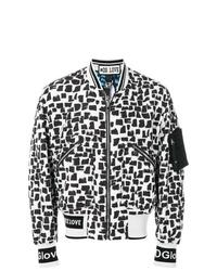 Cazadora de aviador estampada en blanco y negro de Dolce & Gabbana