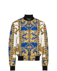 Cazadora de aviador estampada en multicolor de Versace