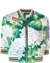 Cazadora de aviador estampada en verde menta de Dolce & Gabbana