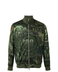 Cazadora de Aviador Estampada Verde Oscuro de Givenchy