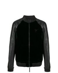 Cazadora de aviador negra de Giuseppe Zanotti Design