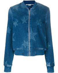 Cazadora de aviador vaquera de estrellas azul de Stella McCartney