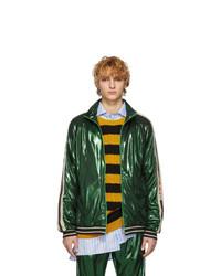 Cazadora de aviador verde oscuro de Gucci