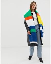 Chal de rayas horizontales en multicolor