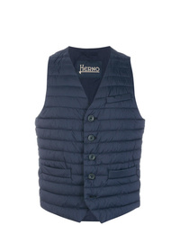 Chaleco de abrigo acolchado azul marino de Herno