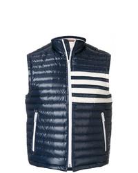 Chaleco de abrigo acolchado azul marino de Thom Browne