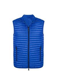 Chaleco de abrigo acolchado azul de Emporio Armani