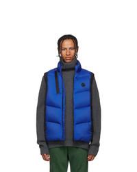 Chaleco de abrigo acolchado azul de Moncler