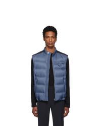 Chaleco de abrigo acolchado azul de Prada