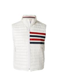 Chaleco de abrigo acolchado blanco de Thom Browne