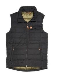 Chaleco de abrigo acolchado en gris oscuro