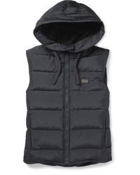 Chaleco de abrigo acolchado en gris oscuro de Dolce & Gabbana