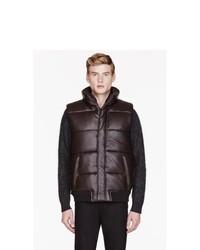 Chaleco de abrigo acolchado en marrón oscuro de Marc by Marc Jacobs