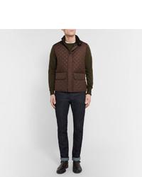 Chaleco de abrigo acolchado en marrón oscuro de Belstaff