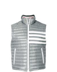 Chaleco de abrigo acolchado gris de Thom Browne
