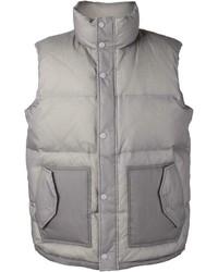 Chaleco de abrigo acolchado gris de Y-3
