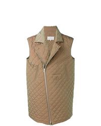 Chaleco de abrigo acolchado marrón claro de Maison Margiela