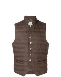 Chaleco de abrigo acolchado marrón de Brunello Cucinelli