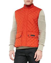 Chaleco de abrigo acolchado naranja