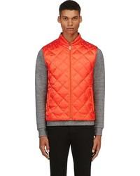 Chaleco de abrigo acolchado naranja de Alexander McQueen