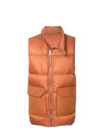 Chaleco de abrigo acolchado naranja de Rick Owens
