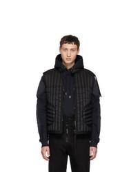 Chaleco de abrigo acolchado negro de Moncler Genius