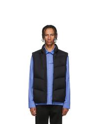 Chaleco de abrigo acolchado negro de Moncler
