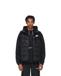 Chaleco de abrigo acolchado negro de Nike