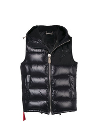 Chaleco de abrigo acolchado negro de Philipp Plein