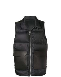 Chaleco de abrigo acolchado negro de Rick Owens