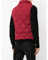 Chaleco de abrigo acolchado rojo de Cerruti