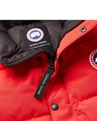 Chaleco de abrigo acolchado rojo de Canada Goose