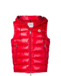 Chaleco de abrigo acolchado rojo de Moncler