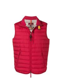Chaleco de abrigo acolchado rojo de Parajumpers