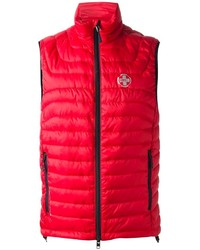 Chaleco de abrigo acolchado rojo de Ralph Lauren