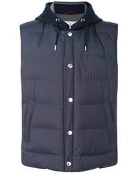Chaleco de abrigo azul marino de Brunello Cucinelli