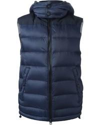Chaleco de abrigo azul marino de Burberry