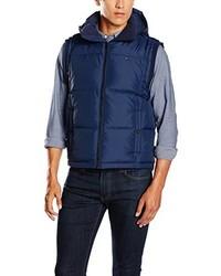 Chaleco de abrigo azul marino de Hilfiger Denim