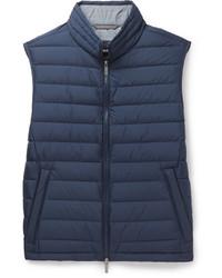 Chaleco de abrigo azul marino de Hugo Boss