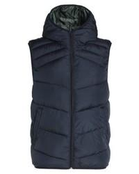 Chaleco de abrigo azul marino de Jack & Jones