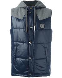Chaleco de abrigo azul marino de Philipp Plein