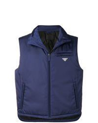 Chaleco de abrigo azul marino de Prada