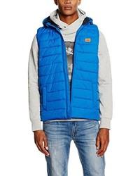 Chaleco de abrigo azul de Jack & Jones