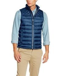 Chaleco de abrigo azul de Tom Tailor